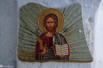Kristen ikon på Santorini