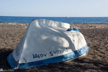 båt, santorini
