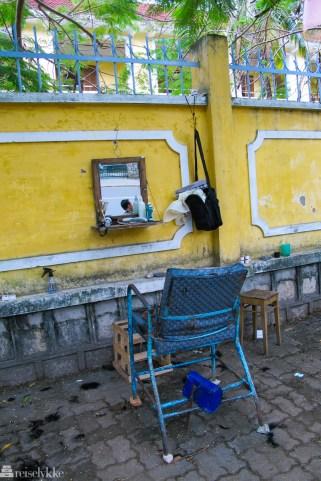 Vietnam: Frisør på gata