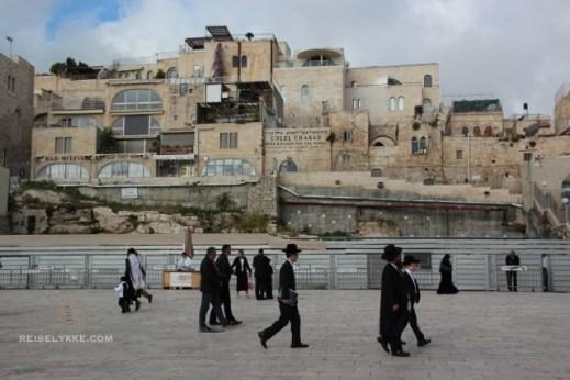 Ved Klagemuren i Jerusalem