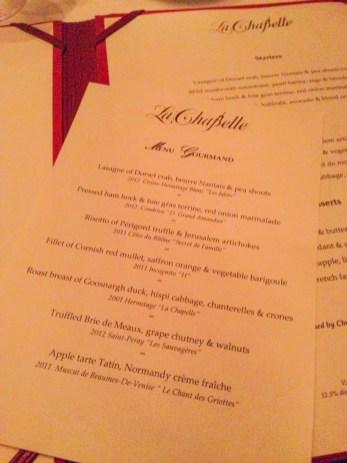 La Chapelle - en favoritt-restaurant i London