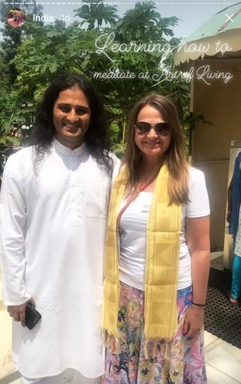 Med meditasjonsguru i Bangalore