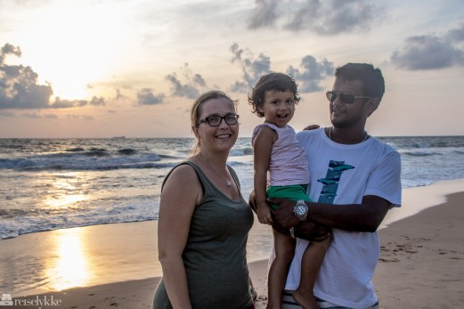 Merete Lund og familien