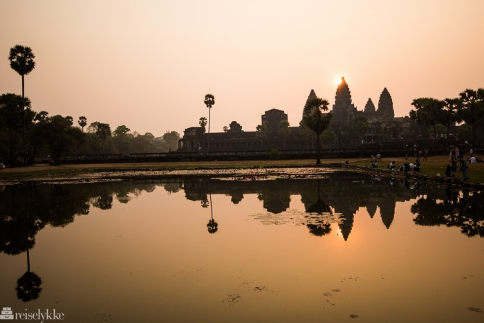 Vakker soloppgang ved Angkor Wat