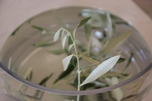 Olivendekor på fancy hotell