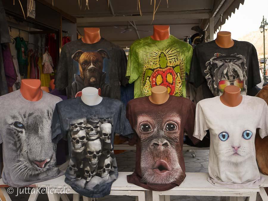 Eye-catching: witzige T-Shirts.