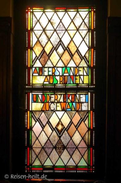Fenster von 1951 im Ratssaal des Rathauses