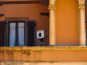 Wozu diese Kamera an der Beretta-Villa wohl diente?