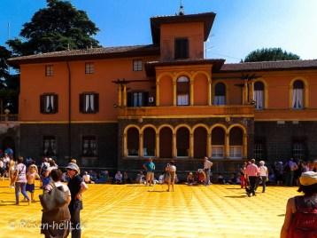 Die Villa der Familie Beretta auf ihrer Privatinsel San Paolo konnte man zu Fuß umrunden.