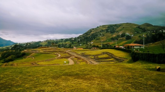 Ruinen der Kanari- und Inka-Kultur in Ingapirca in den Anden.