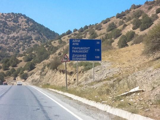 Nur noch 168 Kilometer bis zum Ziel Duschanbe.