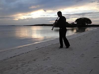 Klarinetten-Musik zum Sonnenuntergang
