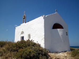 Kapelle auf der kleinen Insel vor Malia