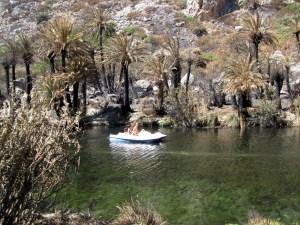 Tretbootfahren lohnt kaum, da man auf dem Fluss nicht weit kommt.