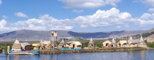 Schwimmende Insel der Uros