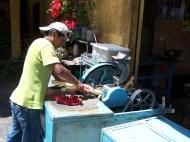 Zubereitung von jugo de cana