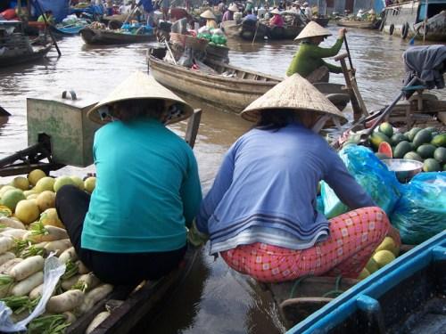 Händlerinnen auf dem Wasser