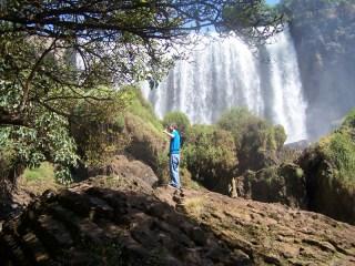 Flo vor dem Elephant Waterfall