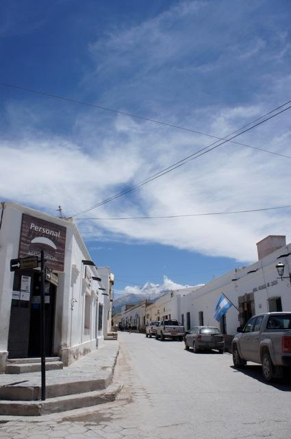 eine der vier Straßen in Cachi