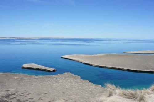 Die Bucht vor Puerto Piramides