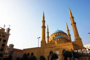 Mohammed-al-Amin-Moschee und St. Georges Kathedrale (links)