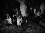 Victims of the bomb tumbling through ruins (Atomic Bomb Museum Hirosihima)