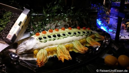 KaDeWe - Fisch mit Zucchiniblüten