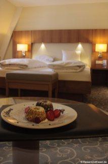 Willkommenspräsent im Hotel Weisses Kreuz in Bregenz