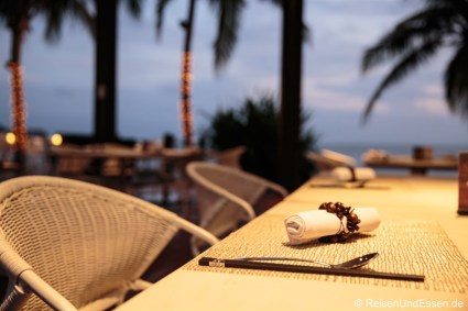 Tisch im InterContinental in Sanya