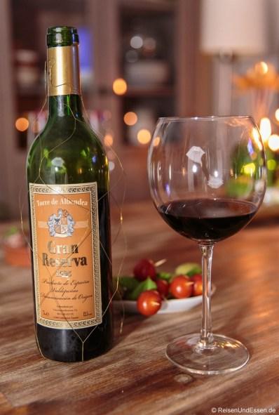 Rotwein aus Spanien Jahrgang 1995