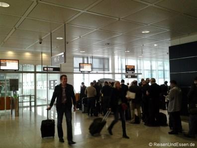 Boarding für LH 119 nach Frankfurt