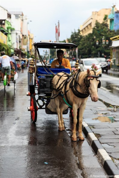 Pferdekutsche in der Jalan Malioboro
