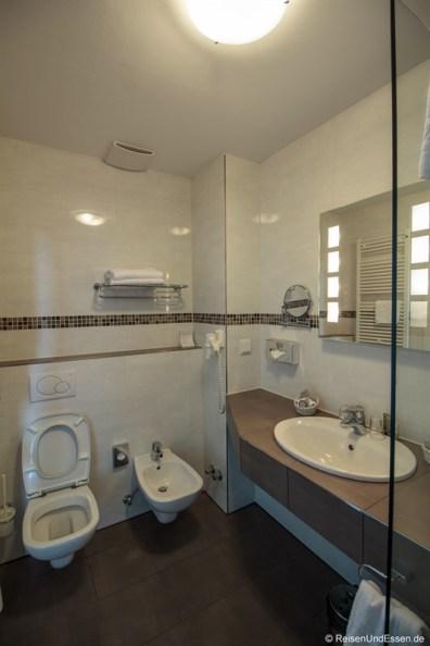 Badezimmer im Wildpark Hotel Bad Marienberg