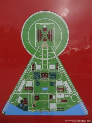 Die Stadtplanner erbauten Canberra in Form eines Schlüssellochs