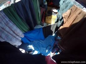 Wäscheleine kreuz & quer durch den Van :-)