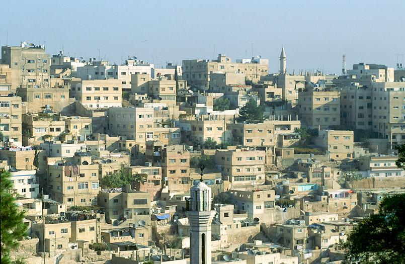 Kuben und Quader: Blick auf Jordaniens Hauptstadt Amman von der Zitadelle