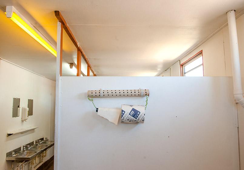 Die Toilette des Renner Springs Roadhouse