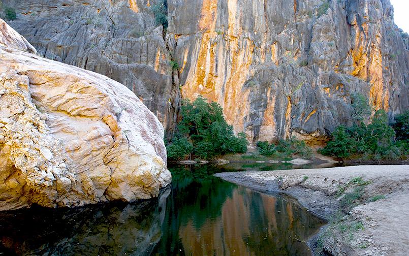 Die Windjana Gorge von Westaustralien