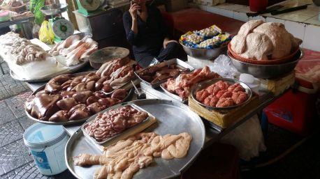 ReiseSpeisen Vietnam Ho Chi Minh City - Ben Thanh Market Fleisch