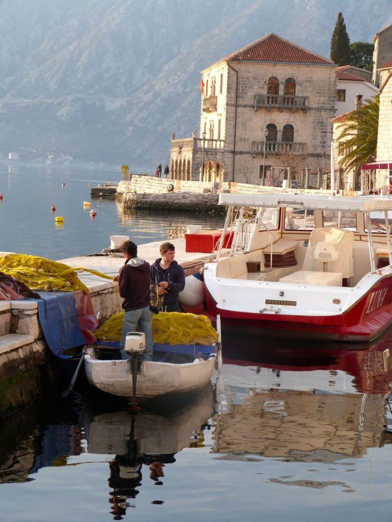 am Hafen von Kotor