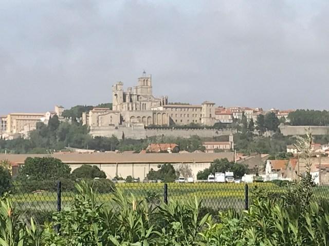 Blick auf die Kathedrale von Bézier