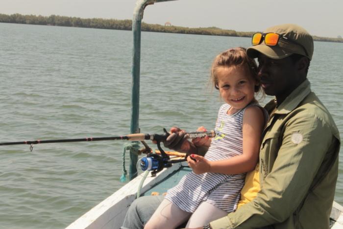 Vissen op The Gambia River