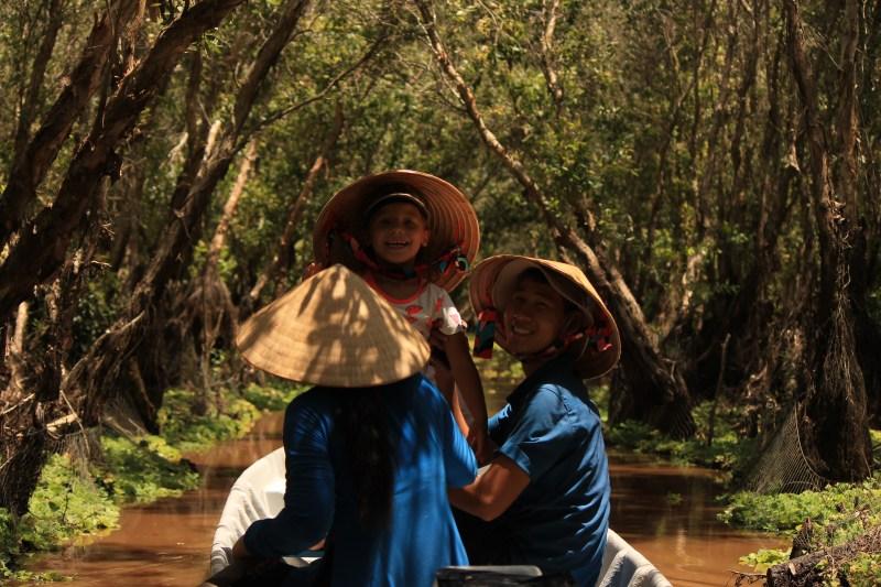 Varen door de Mekongdelta in Viëtnam