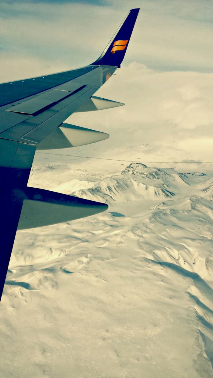 Vliegen over IJsland