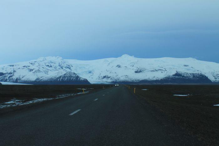 De wegen in IJsland