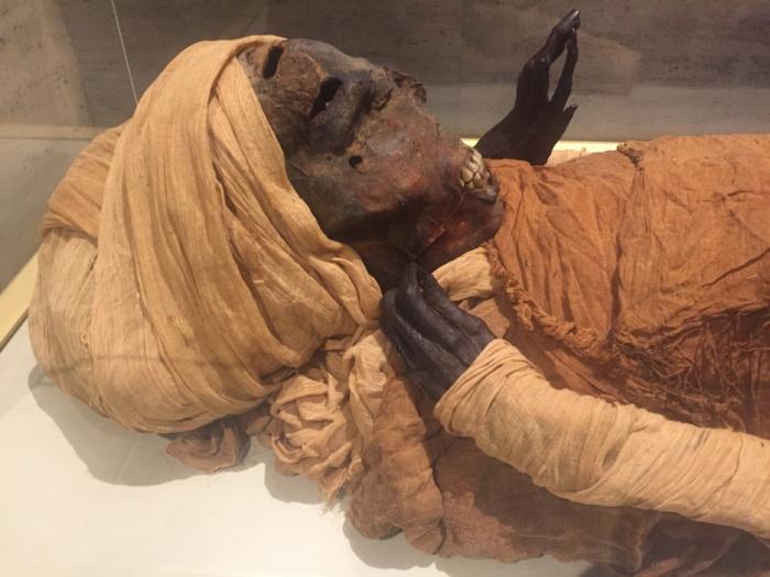Mummie in het Egyptisch museum, Caïro