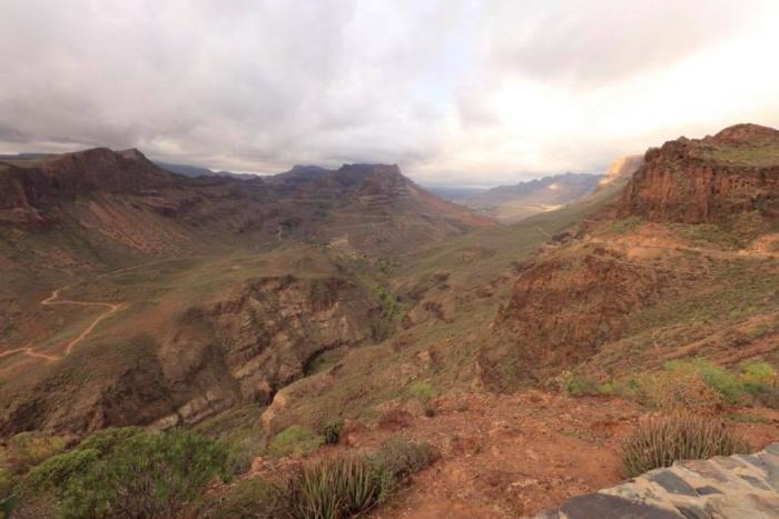 Uitzicht vanaf het Mirador Degollada de la Yegua