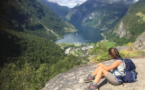 Hiken geirangerfjord