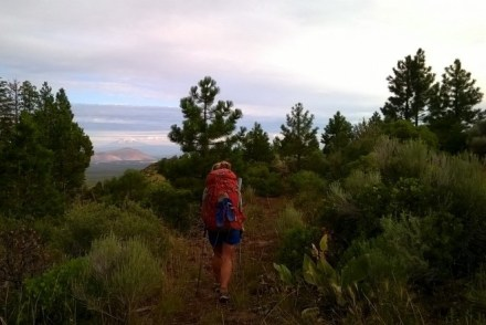 Hat Creek Rim PCT Hiker