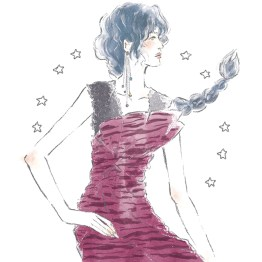 12星座 蠍座 占い 占星術 イラスト 女性 ファッション 広告 web  美容  イラストレーター イラストレーション おしゃれ mook本 女性誌 女性向けWEBメディア horoscope astrology illustration fashionillustration woman illustrator scorpio